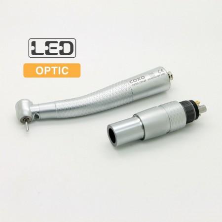 YUSENDENT COXO 歯科用ライト付き高速タービンハンドピース(カップリング付き)CX207-GN-SP